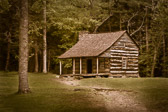 This is the Carter Shields cabin in Cades Cove, in the Great Smoky Mountains National Park