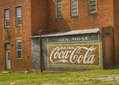 Amazing old Coca-Cola signage in the little town of Adairsville, GA.  I loved the old brickwork and windows in the old general merchandise store.