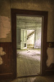 Another image from the abandoned hotel/inn. This is from a back room taken through a series of guestroom doors and looking at the main staircase. I loved the lighting in here...so many light sources from so many directions.