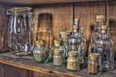 Spice Jars from the shelves in the kitchen of Bulloch Hall, in historic downtown Roswell.  Though not rural, technically speaking, it WAS rural when this place was built in 1839.