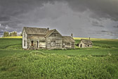 A beautiful old, abandoned farmhouse in the Palouse region of Washington State.