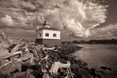 Beautiful old lighthouse at the mouth of the Coquille River, just a few miles north of Bandon, Oregon.