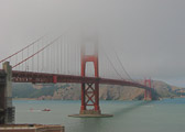 Ah yes, the Golden Gate Bridge shrouded in fog...a perfect combination in a remarkable city.