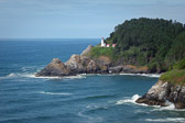 One of the more magnificent settings for any lighthouse I've seen. Coastal Oregon near Florence.