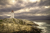A beautiful setting for a beautiful lighthouse. This was the first of many days of storms.