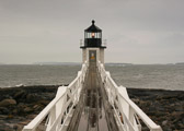 The small, but beautiful Marshall Point Lighthouse on the coast of Maine.
