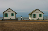 Two vacation cottages in Truro, Massachusetts, on Cape Cod.