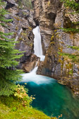 Johnston Canyon in Banff National Park, Canada. The water really is this color up there.