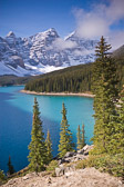 Moraine Lake in Banff National Park, Canada. The scenery here is absolutely breathtaking.