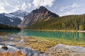Reflections of Mount Edith Cavell in Jasper National Park, Canada.