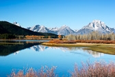 Oxbow Bend on the Snake River in Grand Teton National Park.