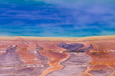 Close up details from Grand Prismatic Spring in Yellowstone National Park.