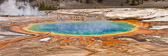 Details from Grand Prismatic Spring in Yellowstone National Park.