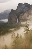Bridalveil Falls in Yosemite National Park. A big storm was just leaving the valley, creating this wonderful mist/fog.
