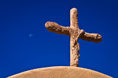 """Nothing says """"New Mexico"""" to me better than an old adobe cross and the hauntingly blue sky. This was taken in Chimayo, outside El Santuario de Chimayó, a famous Catholic Church known worldwide for its healing powers."""
