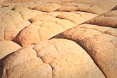 This rock formation looked like a pan of dinner rolls...especially since we were pretty hungry after a 3 hour hike through the desert. Taken in the Coyote Buttes WIlderness area in norther Arizona.