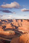 A giant bend in the mighty Colorado River and the dramatic plateaus it has left behind makes Dead Horse Point State Park a visual treat.