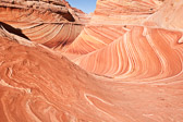 """An area known as """"The Wave"""" in northern Arizona. These spectacular sandstone formations are a must-see for travelers to the area. However, there is a very strict limit to the number of visitors (20 per day) and permits are required months in advance."""
